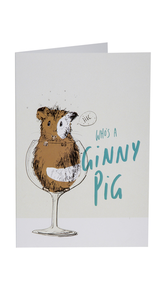 """Who's A Ginny Pig"" Gift Card"