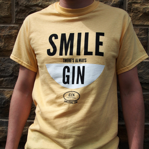 T-Shirt - Smile, There's Always Gin