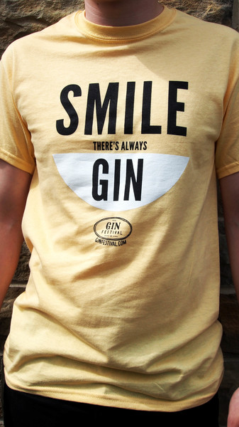 Smile, There's Always Gin Yellow T-Shirt